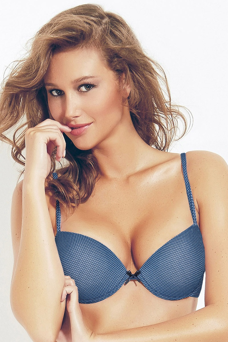 Biustonosz Push-Up Perla Blue