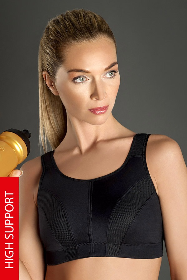 Biustonosz sportowy Thermo Cool Active - czarny